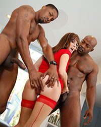 Alana Cruise Black Interracial Gangbang