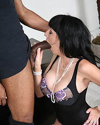 Alia Janine Black Cock Sucked