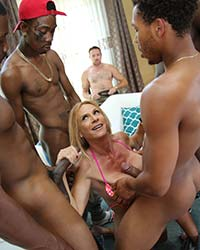Brooke Tyler Sucking A Black Dick