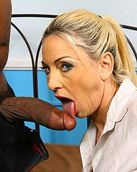 Cayla Craves - Cougar Mom makes son watch as she fucks black dick