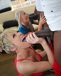 Dee Williams & London River Interracial Gang Bang