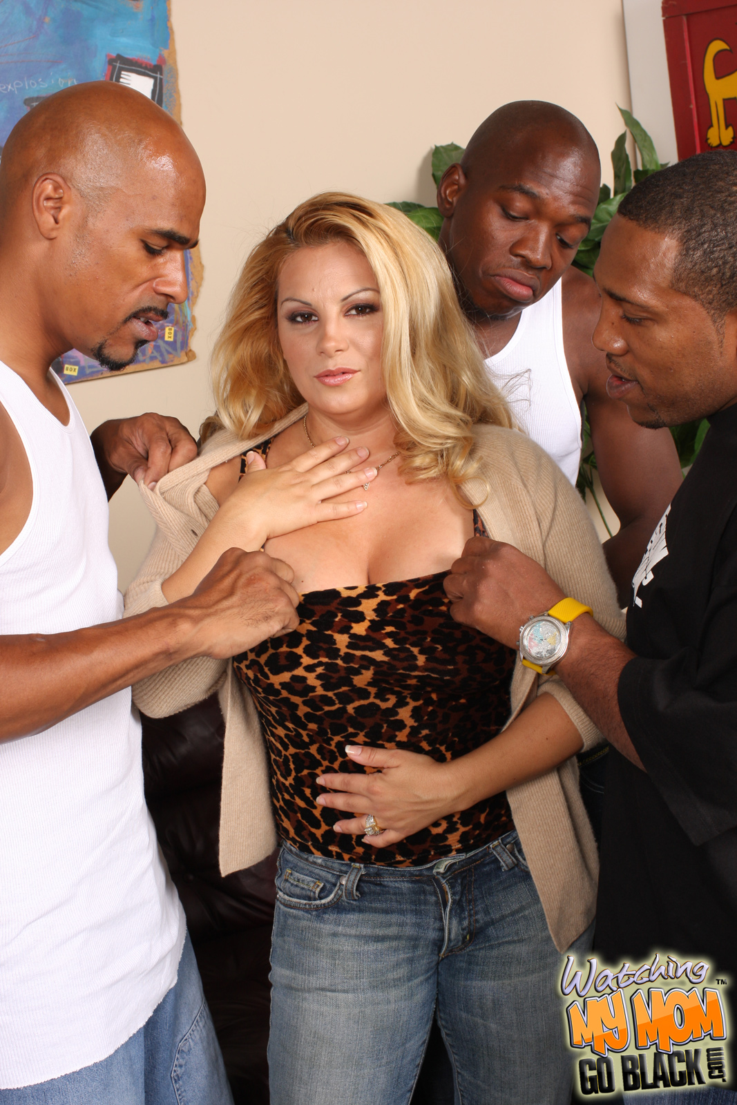 Busty mother sara jay fucked by several black not her sons - 1 part 4