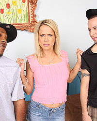 Peyton Leigh - Son watches Cougar Mom suck fuck black interracial