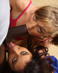 Sheila Marie and Alana Rains Cuckold Punishment